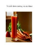 Tài liệu Vi chất dinh dưỡng và sức khoẻ pdf