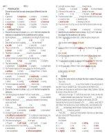 Tài liệu Unit 1 - Bt Mlh 11 - Test 2-Key ppt