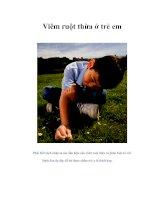 Tài liệu Viêm ruột thừa ở trẻ em pdf