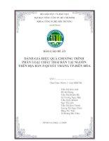 Tài liệu BÁO CÁO ĐỀ ÁN - PHÂN LOẠI CHẤT THẢI RẮN TẠI NGUỒN TRÊN ĐỊA BÀN P.QUYẾT THẮNG TP.BIÊN HÒA ppt