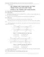 Tài liệu Chương 4: Hệ thống cấp tháo nước và tính toán thủy lực khi cấp tháo pdf