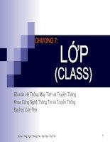 Tài liệu LẬP TRÌNH HƯỚNG ĐỐI TƯỢNG C++ - Chương 7 pptx