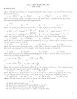 Tài liệu 4 bộ đề kiểm tra chuyên đề vật lý lớp 10 ppt