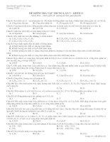 Tài liệu Đề kiểm tra 1 tiết tập trung lần 3 - Môn Hóa Khối 11 (Mã đề thi 101) pdf
