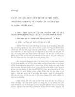 Tài liệu Chương I: NGUỒN GỐC, QUÁ TRÌNH HÌNH THÀNH VÀ PHÁT TRIỂN, ĐỐI TƯỢNG, NHIỆM VỤ VÀ Ý NGHĨA CỦA VIỆC HỌC TẬP TƯ TƯỞNG HỒ CHÍ MINH ppt