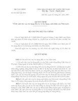 Tài liệu Quyết định 08/2007/QĐ-BTC Về lãi suất cho vay tín dụng đầu tư và tín dụng xuất khẩu của Nhà nước docx