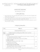 Tài liệu Hướng dẫn chấm thi môn Địa tốt nghiệp THPT năm 2008 lần 2_Bổ túc pdf