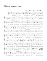 Tài liệu Bài hát bóng chiều xưa - Dương Thiệu Tước & Minh Trang (lời bài hát có nốt) doc