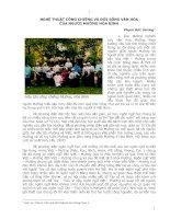 Tài liệu NGHỆ THUẬT CỒNG CHIÊNG VÀ ĐỜI SỐNG VĂN HÓA CỦA NGƯỜI MƯỜNG HÒA BÌNH doc