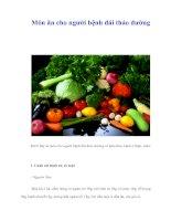 Tài liệu Món ăn cho người bệnh đái tháo đường ppt