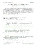 Tài liệu Đáp án chi tiết đề thi tuyển sinh ĐH-CĐ môn Hóa khối B năm 2008 pdf