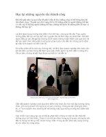Tài liệu Học lại những nguyên tắc thành công docx