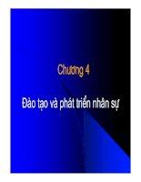 Tài liệu Chương 4: Đào tạo và phát triển nhân sự docx