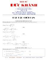 Tài liệu Tuyển các dạng và phương pháp giải toán giới han hàm số doc