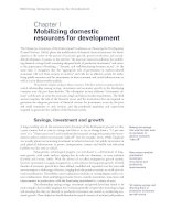 Tài liệu Mobilizing domestic resources for development - Chapter I ppt
