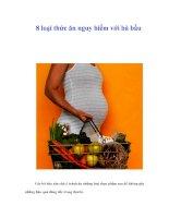 Tài liệu 8 loại thức ăn nguy hiểm với bà bầu docx