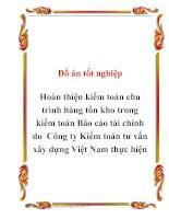 Tài liệu Đồ án tốt nghiệp Hoàn thiện kiểm toán chu trình hàng tồn kho trong kiểm toán Báo cáo tài chính do Công ty Kiểm toán tư vấn xây dựng Việt Nam thực hiện pptx
