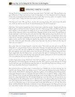 Tài liệu Phong thủy trong xây dựng nhà ở pdf