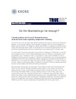 Tài liệu KRONE - White Paper - TrueNet - Do standards go far enough ppt