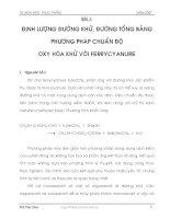 Tài liệu Bài 1: ĐỊNH LƯỢNG ĐƯỜNG KHỬ, ĐƯỜNG TỔNG BẰNG PHƯƠNG PHÁP CHUẨN ĐỘ OXY HÓA KHỬ VỚI FERRYCYANURE ppt