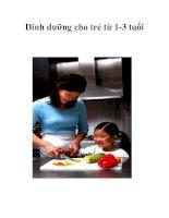 Tài liệu Dinh dưỡng cho trẻ từ 1-3 tuổi pptx