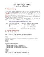 Tài liệu BÀI TẬP THỰC HÀNH MÔN LẬP TRÌNH WEB A. doc