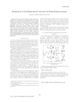 Research on a novel buck boost converter for wind turbine systems