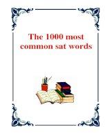 Tài liệu The 1000 Most Common SAT Words pdf