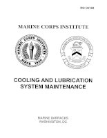 Tài liệu Cooling and Lubrication System Maintenance P1 doc