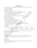 Tài liệu Đề kiểm tra Vật lý khối 10 cơ bản pptx