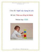 Tài liệu Chủ đề: Nghề xây dựng bé yêu - Đề tài: Nhà cao tầng bé thích - Nhóm lớp: Chồi ppt