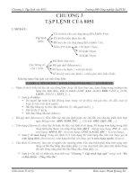 Tài liệu Chương 3: Tập lệnh của 8051 doc