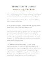 Tài liệu LUYỆN ĐỌC TIẾNG ANH QUA TÁC PHẨM VĂN HỌC-SHORT STORY BY O'HENRY Madame Bo-peep, Of The Ranches ppt