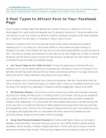 5 post types to attract fans to your facebook page