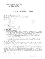 Tài liệu ĐỀ CƯƠNG CHI TIẾT HỌC PHẦN pdf