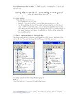 Tài liệu Hướng dẫn cài đặt kết nối Internet bằng Modem quay số docx