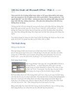 Tài liệu 106 thủ thuật với Microsoft Office Phần 1 doc