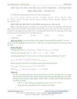 Tài liệu Lời giải chi tiết đề thi đại học môn Hóa khối A 2009 pptx