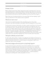 Tài liệu Planning a Project pdf