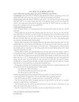 Tài liệu Câu hỏi ôn thi Tài chính tiền tệ pdf