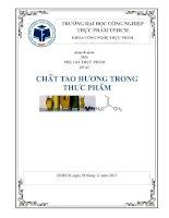 đề tài: chất tạo hương trong thực phẩm