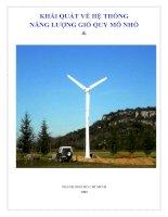Tài liệu Khái Quát Về Hệ Thống Năng Lượng Gió pptx