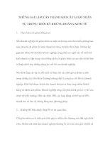 Tài liệu NHỮNG SAI LẦM CẦN TRÁNH KHI CẮT GIẢM NHÂN SỰ TRONG THỜI KỲ KHỦNG HOẢNG KINH TẾ pptx