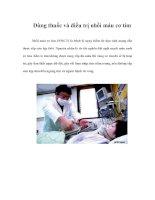 Tài liệu Dùng thuốc và điều trị nhồi máu cơ tim doc