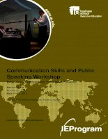 Communication Skills and Public Speaking Workshop ( Kỹ năng giao tiếp và hội thảo nói trước công chúng)