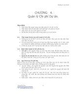 Tài liệu Chương 4: Quản lý Chi phí Dự án doc