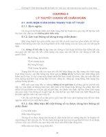 Tài liệu Lý thuyết chung về chuẩn đoán ppt