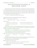 Tài liệu ĐÁP ÁN CHI TIẾT ĐỀ THI TUYỂN SINH ĐH – CĐ KHỐI B NĂM 2008 – MÃ ĐỀ 195 ppt