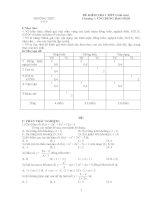 Tài liệu TRƯỜNG THPT ĐỀ KIỂM TRA 1 TIẾT (Giải tích) Chương 1: ỨNG DỤNG ĐẠO HÀM I/ pdf