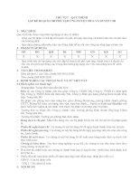 Tài liệu Thủ tục- Quy trình lập kế hoạch chi phí, tạm ứng duyệt mua và duyệt chi pptx